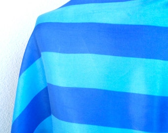 Lapis Blue Color Block - a vintage 1960's Vera Neumann Lucky Ladybug Optical Art scarf