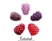 Chunky Berry Bead Tutorial, Beaded Bead Pattern, Peyote Instructions, Beadweaving: BERRIES