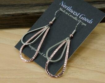 Teardrop Earrings two piece