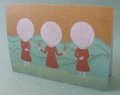 5 x 7 Notecard - A016 MOON GIRLS // moon card / moon art / moon print / nature card / mountain / landscape / sprouthead / magic