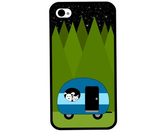 Phone Case - Camping with Best Friends - Hard Case for iPhone 4, 4s, 5, 5s, 5c, SE, 6, 6 Plus, 7, 7 Plus - iPod Touch 4, 5/6 - Galaxy