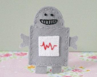 Pattern: Robot Felt Finger Puppet