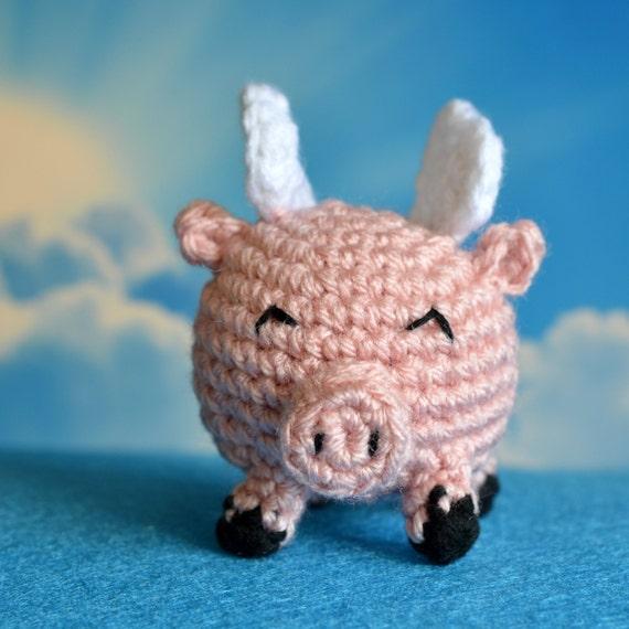 Flying Angel Pig Amigurumi Crochet Pattern : Adorable Flying Pig - Crochet Amigurumi PDF Pattern from ...