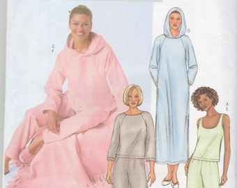 Butterick Very Easy Pjs Sewing Pattern Misses Loungewear Size XS S M