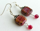 BERRY TART - Artsian Lampwork Bead Earrings