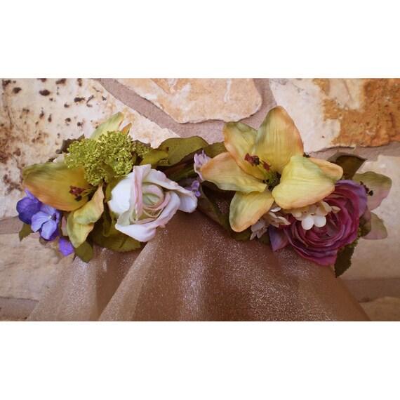Floral head wreath women's accessory flower crown bridal flowers renaissance costume