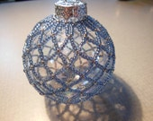Glass Beaded Ornament - Light Blue Beads - OR7