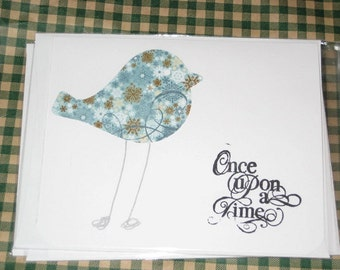 Once Upon a Time Greeting Card with Bird