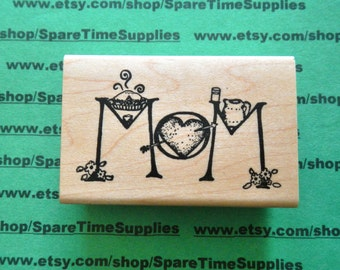DEL-G028 A Mothers Love - Mounted Rubber Stamp