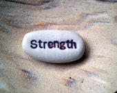 Affirmation Stones, Strength, Pocket Gifts, Clay Word