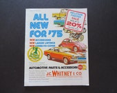 Vintage 1975 J C WHITNEY automotive Catalog no. 334 Very Complete & Clean