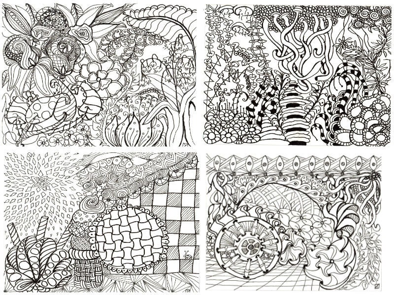 Printable Coloring Pages Zen : Printable calendar coloring pages adult coloring pages zen
