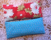 Set of 2 Removable Covers and Lavender Scented Eye Pillow, Aromatherapy Eye Pillow, Floral Eye Pillow