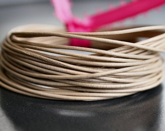 Round Leather Cord .5mm Petal : 15 Feet Genuine Leather