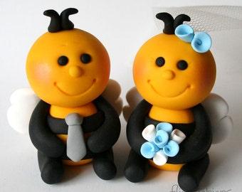 Custom Honey Bee Wedding Cake Topper