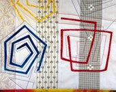 Swirls Art Quilt Wall Hanging Spiral Shapes