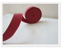 Dusty Rose Twill Fabric Ribbon, Cotton Twill Tape, Rose Medium Herringbone Twill Tape