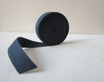 Denim Cotton Twill Tape, 3/4 inch wide, Medium Herringbone Twill Tape