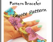 Flowers Flowers Peyote Pattern Bracelet - For Personal Use Only PDF Tutorial