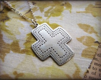 Large Santa Fe Cross Necklace - Symbolic - Gift Birthday Bridal Bride Best Friend Mother Sister Cousin Daughter