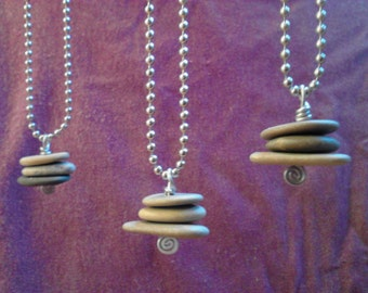 Tiny Cairn Stone Necklace SHIPPING INCLUDED