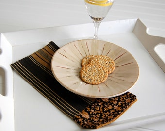 Fairhaven Cloth Bistro Napkins / elegant black and gold dining room / traditional kitchen hostess gift / gift for him / striped cloth napkin