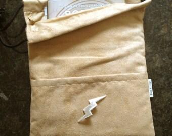 Silver Lightning Bolt - Book, ipod, eReader, Tablet, Comic, Magazine, Bag-Sleeve (etsy)