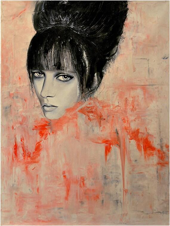 Zee  - Fashion Oil Painting Art Print