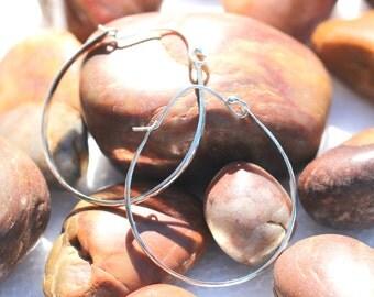 Big silver hoop earrings silver hoops hammered hoop earrings medium hoop earrings