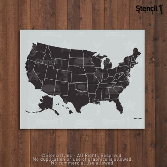 Large USA Map Stencil Reusable Craft DIY Stencils - Large us map stencil