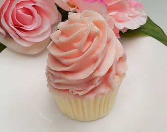 Strawberry Cupcake Soap, Strawberry Soap Cupcake, Birthday Gift Soap
