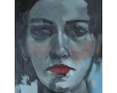 "SALE Original Oil Painting ""Dilettante"" by Amy Abshier Reyes"