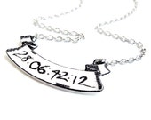 RESERVED for Todd - Donnie Darko 28 Days 6 Hours 42 Minutes 12 Seconds Banner Necklace