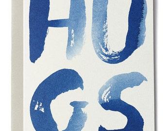 Hugs Indigo Card