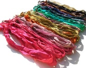 Recycled Sari Silk 18- 20 Inch adjustable necklace-ONE- pick your own color