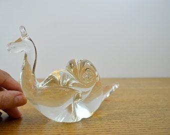 Handmade vintage art glass snail
