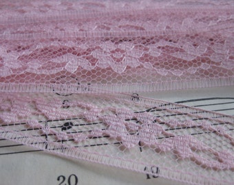 Vintage Pink Lace- 3 Yards