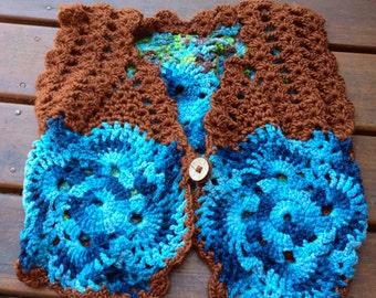Tavali Vest - crochet funky vest