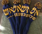 Personalized Hebrew Golf Club Covers - Set of 4