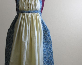 Custom Regency Inspired Apron (Gathered) - Made to order
