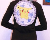 pokemon black cardigan pikachu