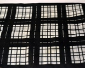 Vintage Scarf Berkshire Black and White  20 inch Sq