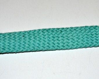 Cotton Webbing Aqua  1 inch Wide By 2 Yard lengths
