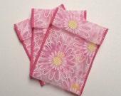 Jewelry Bead Pouches - 15 Pink Daisy - Ribbon