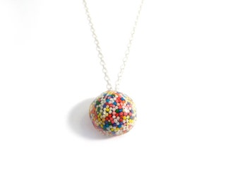Glitter Sprinkle Licorice Necklace: Real Candy Jewelry