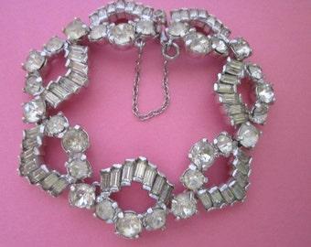 Vintage Eisenberg Rhinestone Bracelet SALE marked down 10%