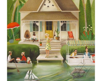 June Everheart's Splendid Summer Home.  Art Print