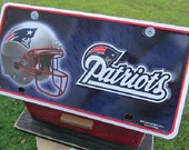 New England Patriots Football License Plate Birdhouse Red Fully Functional Birdhouse NFL Handmade birdhouse Unique Bird House Wood Birdhouse