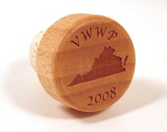 State Wine Bottle Stopper - Wedding Favor or Wedding Gift