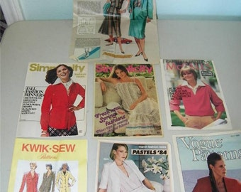 Vintage Lot Sewing Pattern Booklets McCall's Vogue Simplicity 1970's 1980's 9963